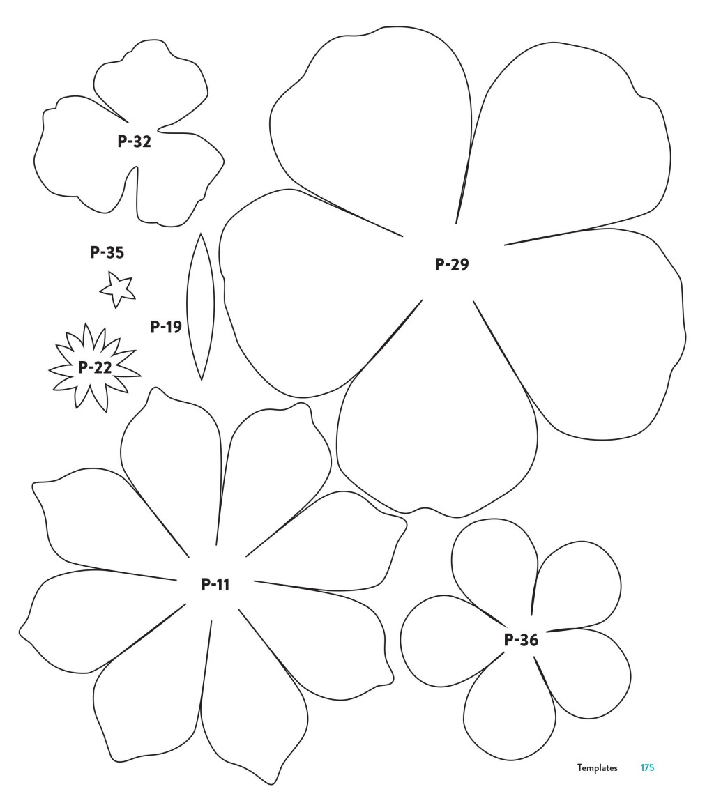 004 Phenomenal Downloadable Free Printable Paper Flower Template Concept  TemplatesLarge