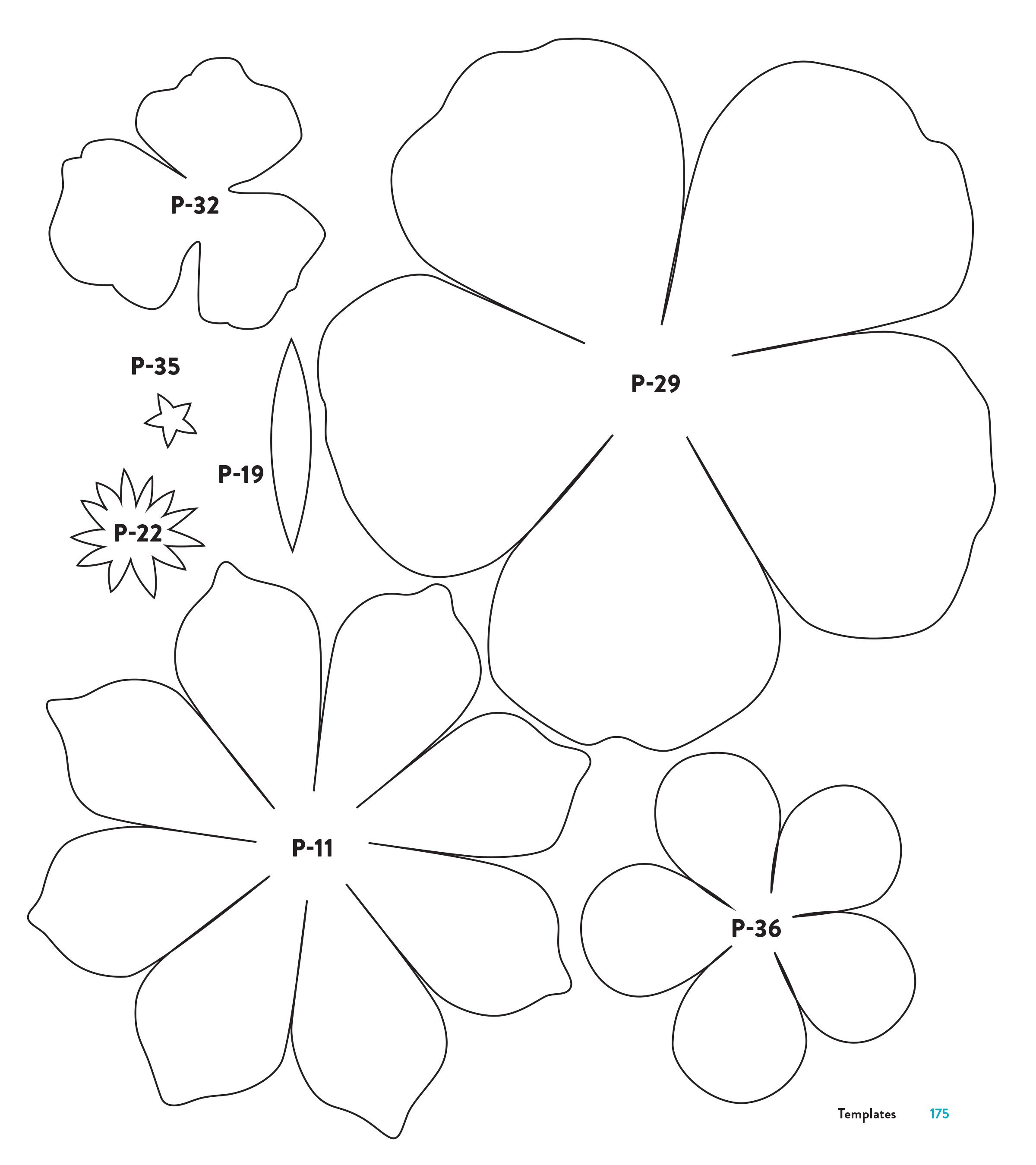 004 Phenomenal Downloadable Free Printable Paper Flower Template Concept  TemplatesFull