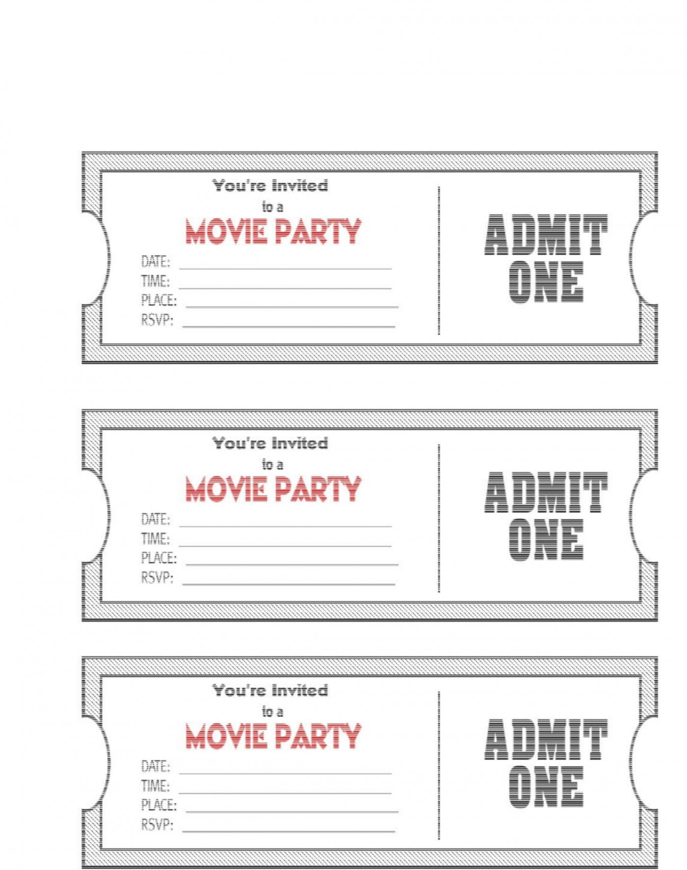 004 Phenomenal Editable Ticket Template Free Image  Concert Word Irctc Format Download Movie1400