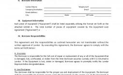 004 Phenomenal Equipment Loan Agreement Template Design  Simple Uk Borrowing Free