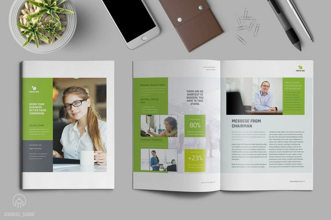 004 Phenomenal Free Adobe Indesign Annual Report Template Example Full