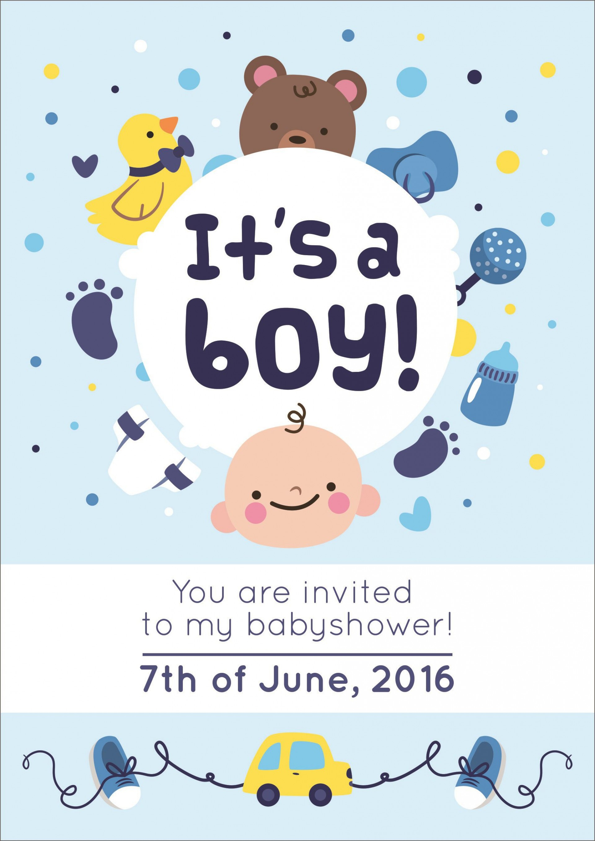 004 Phenomenal Free Baby Shower Invitation Printable Boy High Def  For Twin And Girl1920