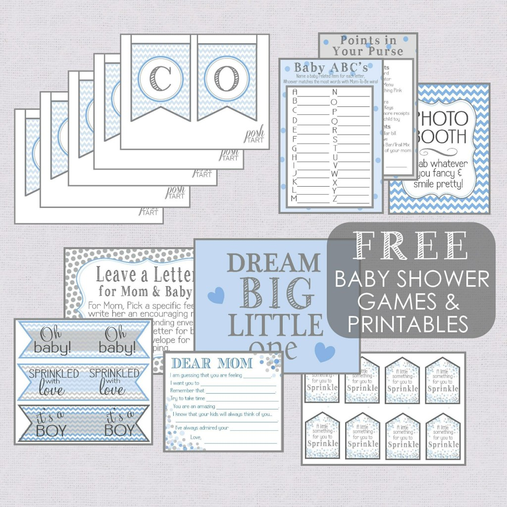 004 Phenomenal Free Baby Shower Printable Boy Photo  Oh Invitation ForLarge