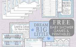004 Phenomenal Free Baby Shower Printable Boy Photo  Oh Invitation For