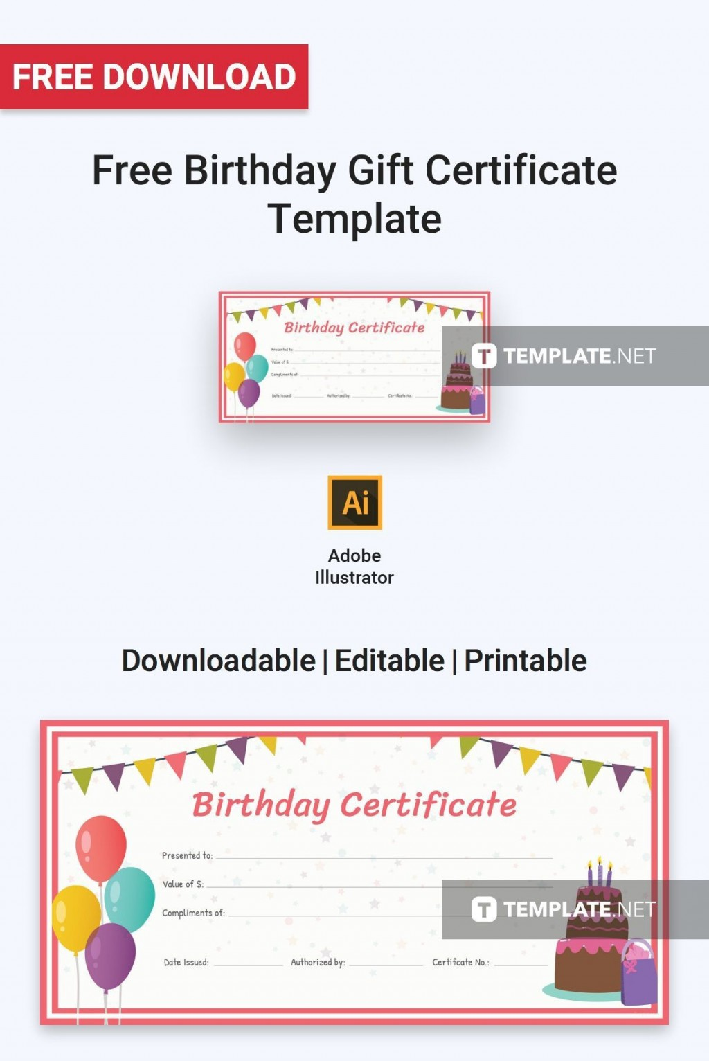 Birthday Certificate Template Word from www.addictionary.org