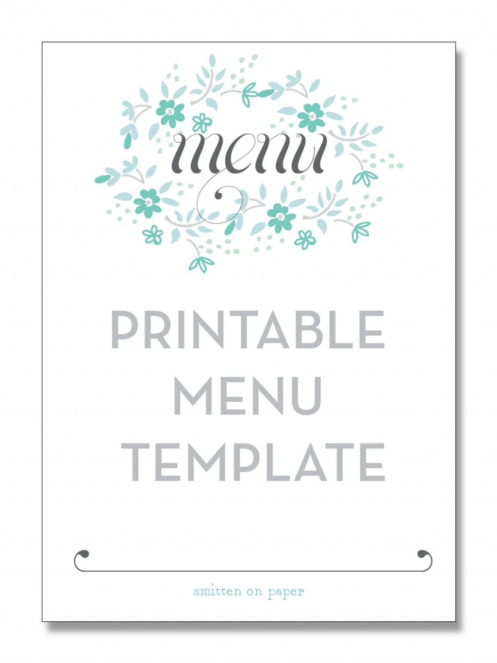 004 Phenomenal Free Printable Menu Template High Resolution  For Dinner Party FamilyLarge