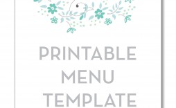 004 Phenomenal Free Printable Menu Template High Resolution  For Dinner Party Family
