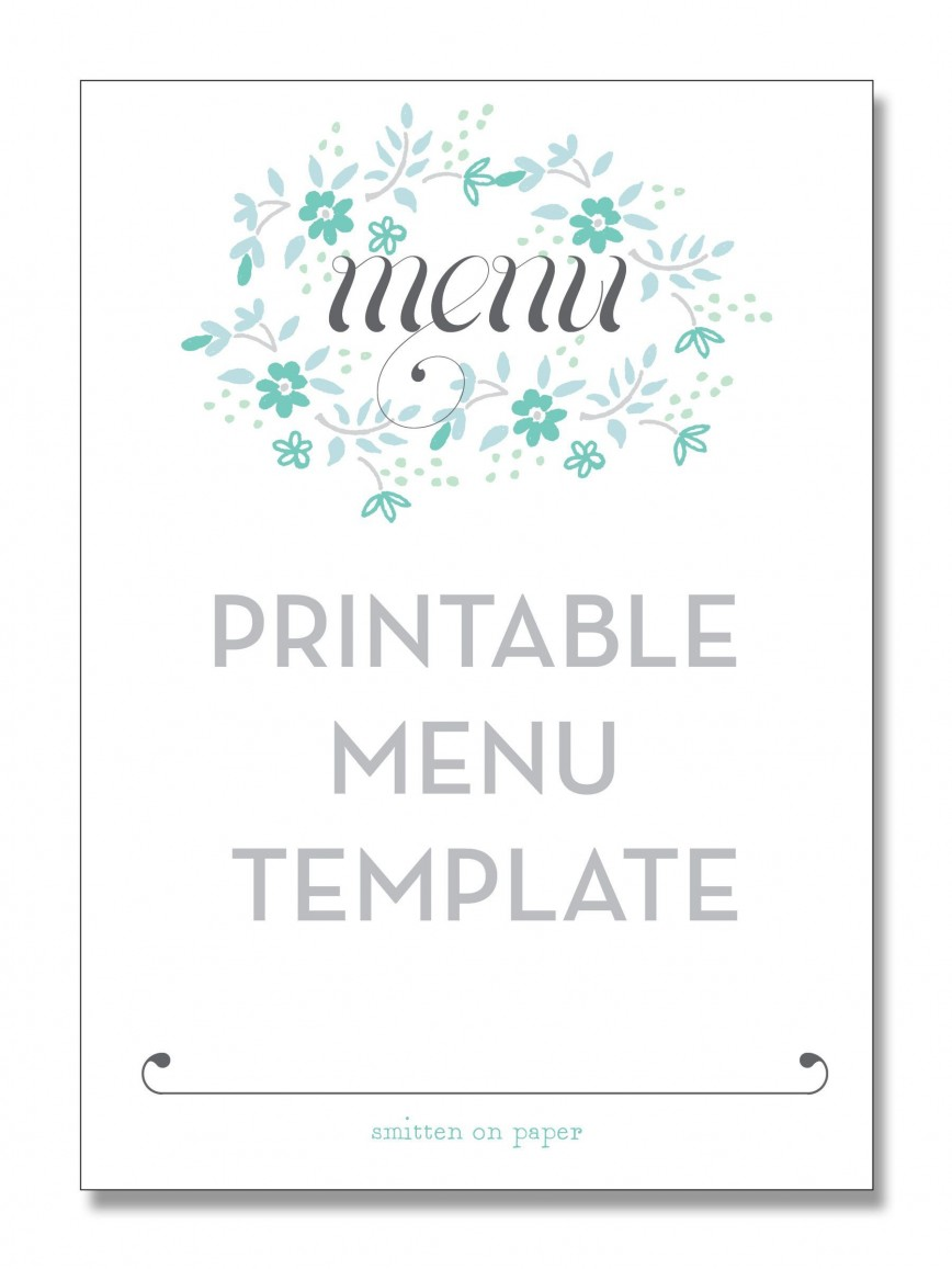 004 Phenomenal Free Printable Menu Template High Resolution  Weekly Dinner Christma For Party