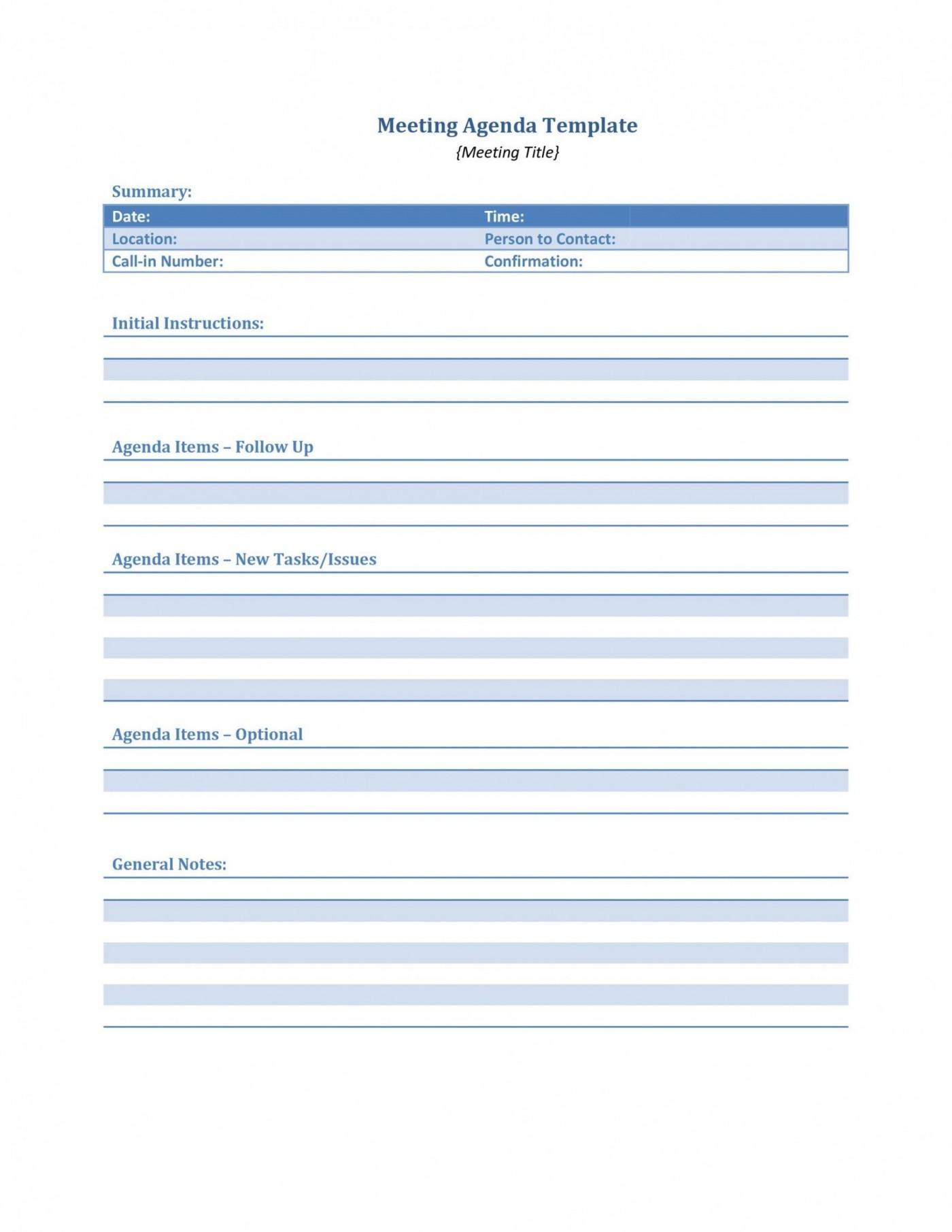 004 Phenomenal Meeting Agenda Template Word Idea  Microsoft Board 2010 Example1400
