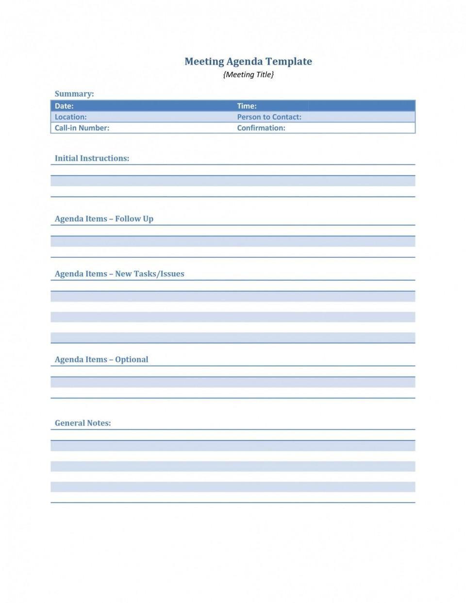 004 Phenomenal Meeting Agenda Template Word Idea  Microsoft Board 2010 Example960