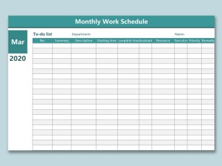 004 Phenomenal Monthly Work Calendar Template Excel Image  Plan Schedule Free Download 2019320