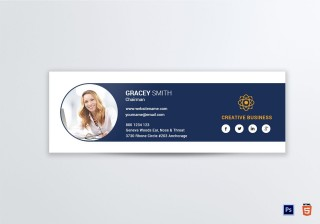 004 Phenomenal Professional Email Signature Template Highest Quality  Free Html Download320