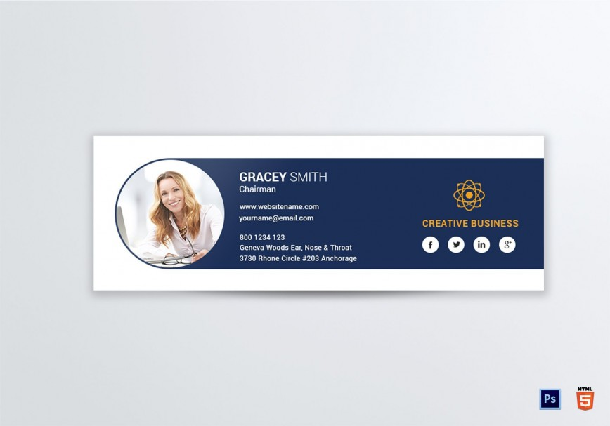 004 Phenomenal Professional Email Signature Template Highest Quality  Free Html Download868