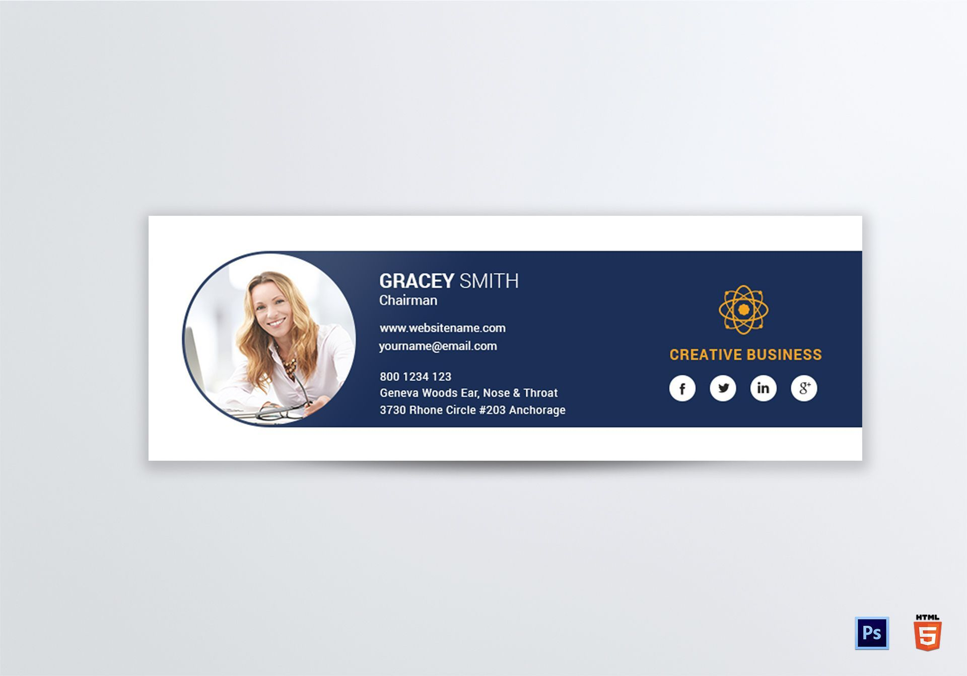004 Phenomenal Professional Email Signature Template Highest Quality  Free Html DownloadFull