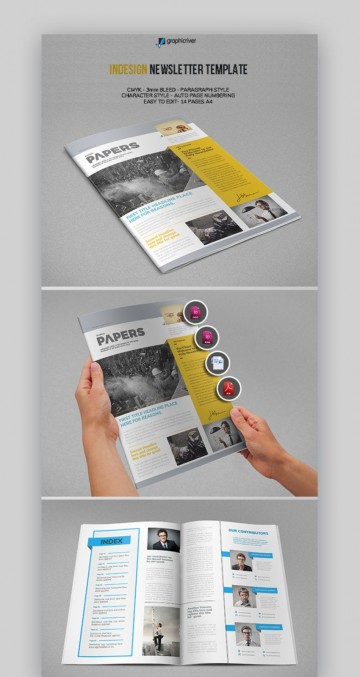 004 Phenomenal Publisher Newsletter Template Free Image  Microsoft Office Download360