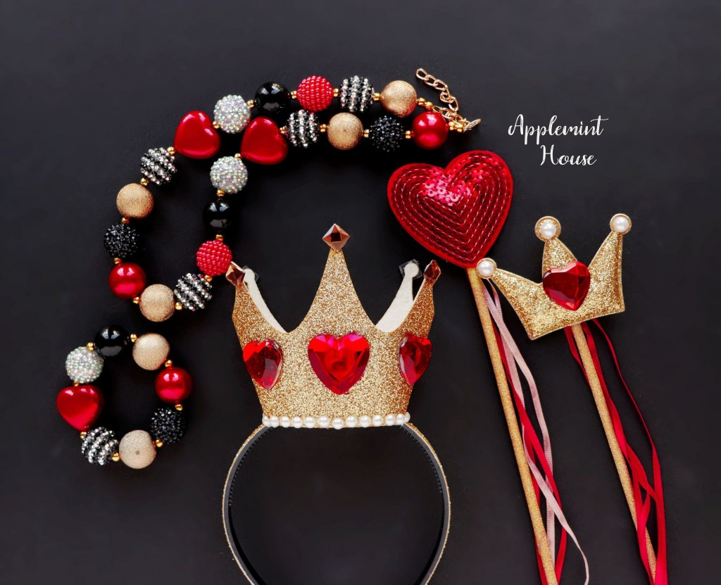 004 Phenomenal Queen Of Heart Crown Pattern Idea  Printable Template Headband DiyLarge