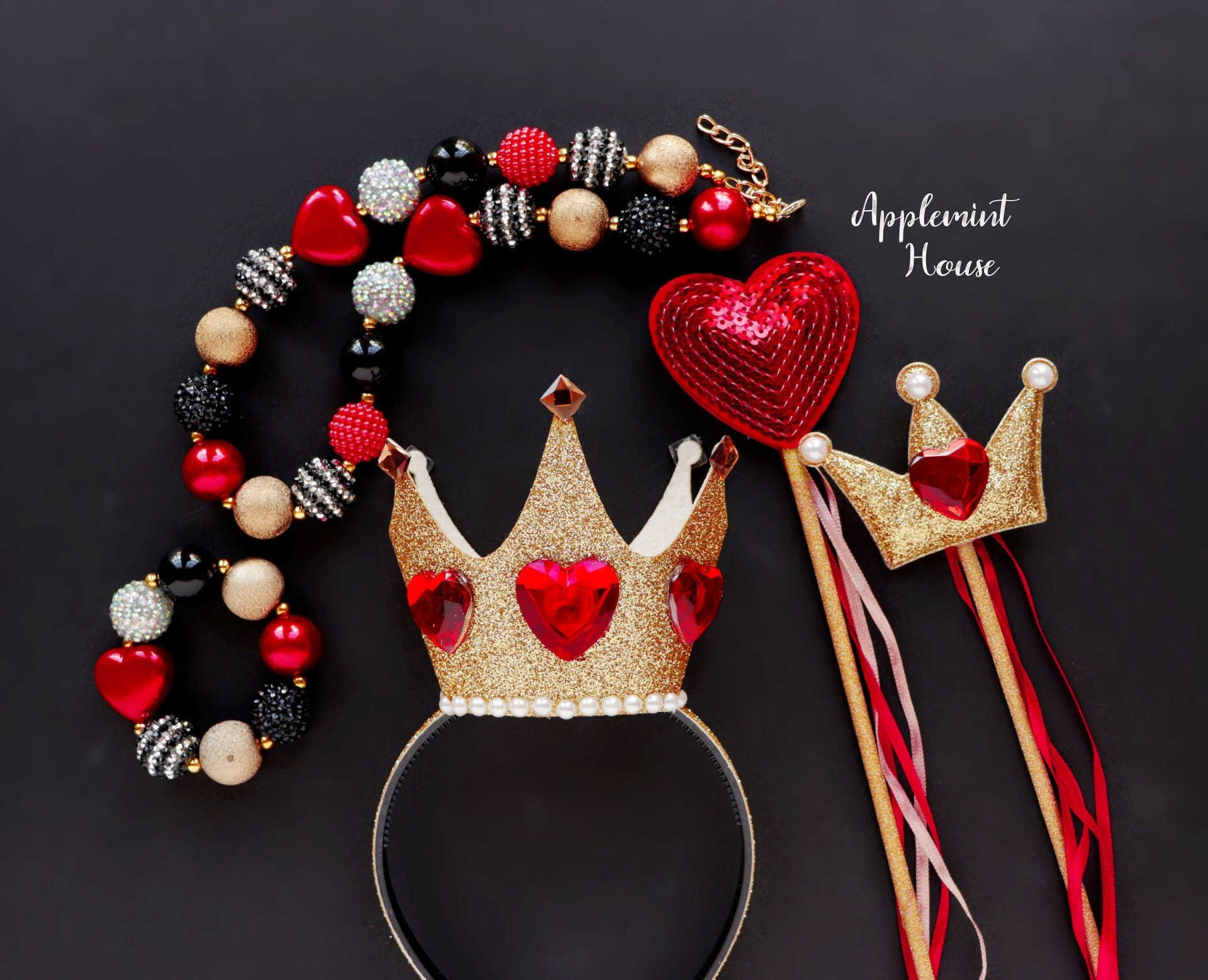 004 Phenomenal Queen Of Heart Crown Pattern Idea  Printable Template Headband Diy1920