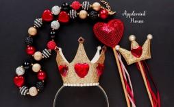 004 Phenomenal Queen Of Heart Crown Pattern Idea  Printable Template Headband Diy