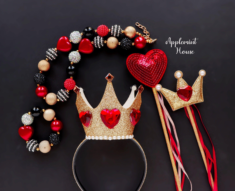 004 Phenomenal Queen Of Heart Crown Pattern Idea  Printable Template Headband DiyFull