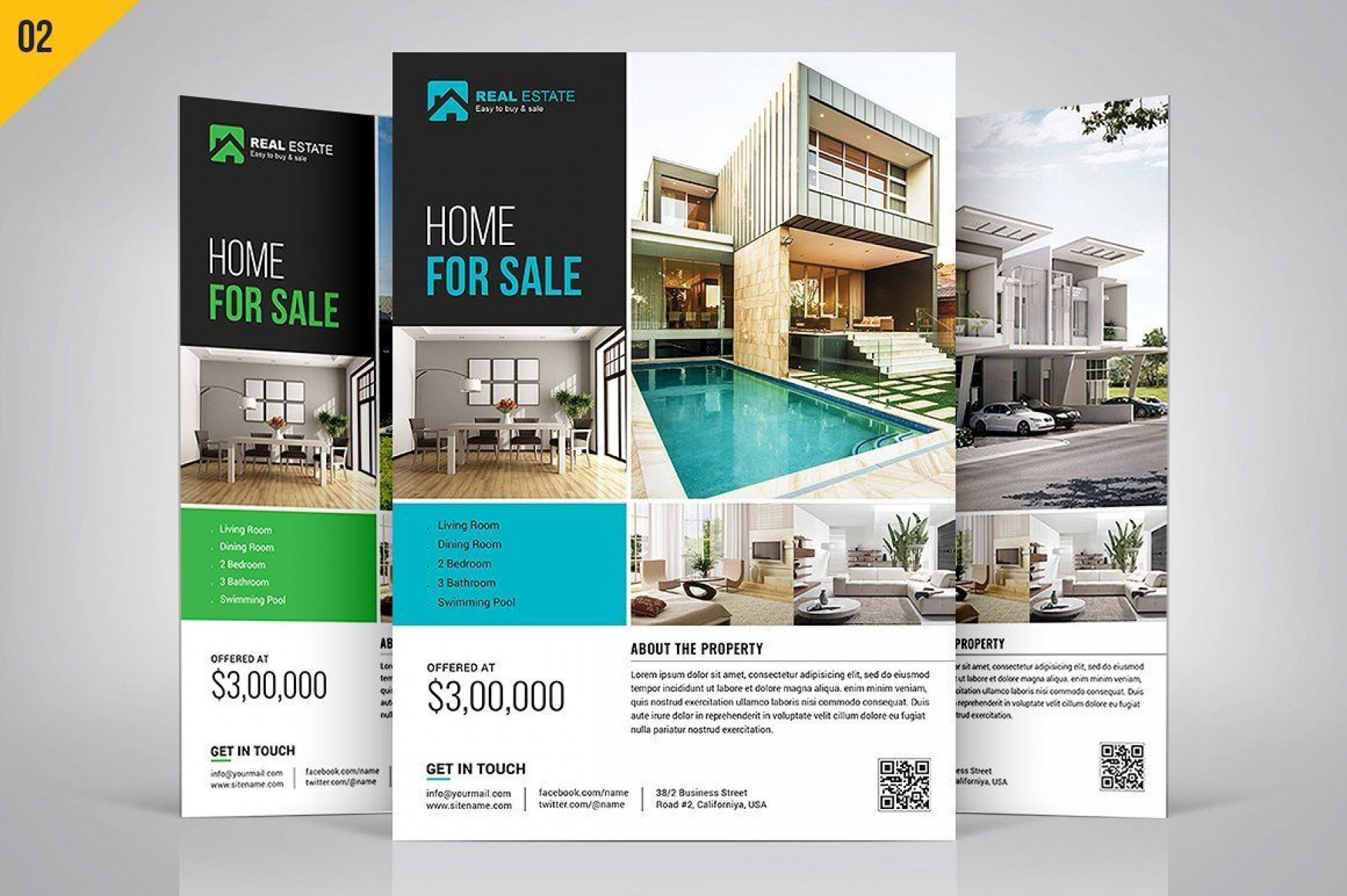 004 Phenomenal Real Estate Ad Template Sample  Templates Commercial Free Listing Flyer Instagram1920