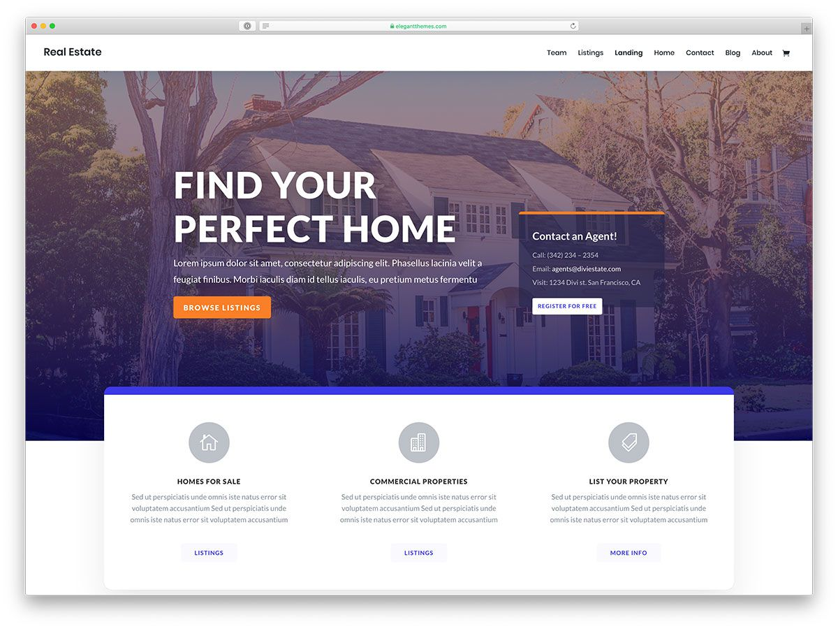 004 Phenomenal Real Estate Agent Website Template Picture  Templates Agency Responsive Free Download Company WebFull