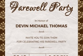 004 Phenomenal Retirement Party Invite Template Word Free Example