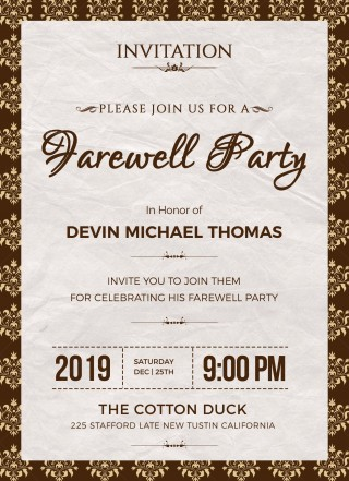 004 Phenomenal Retirement Party Invite Template Word Free Example 320