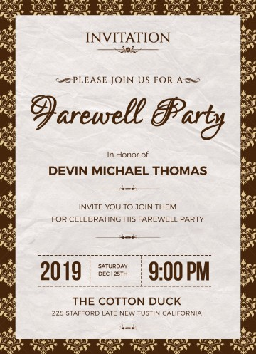 004 Phenomenal Retirement Party Invite Template Word Free Example 360