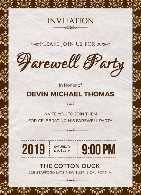 004 Phenomenal Retirement Party Invite Template Word Free Example 480