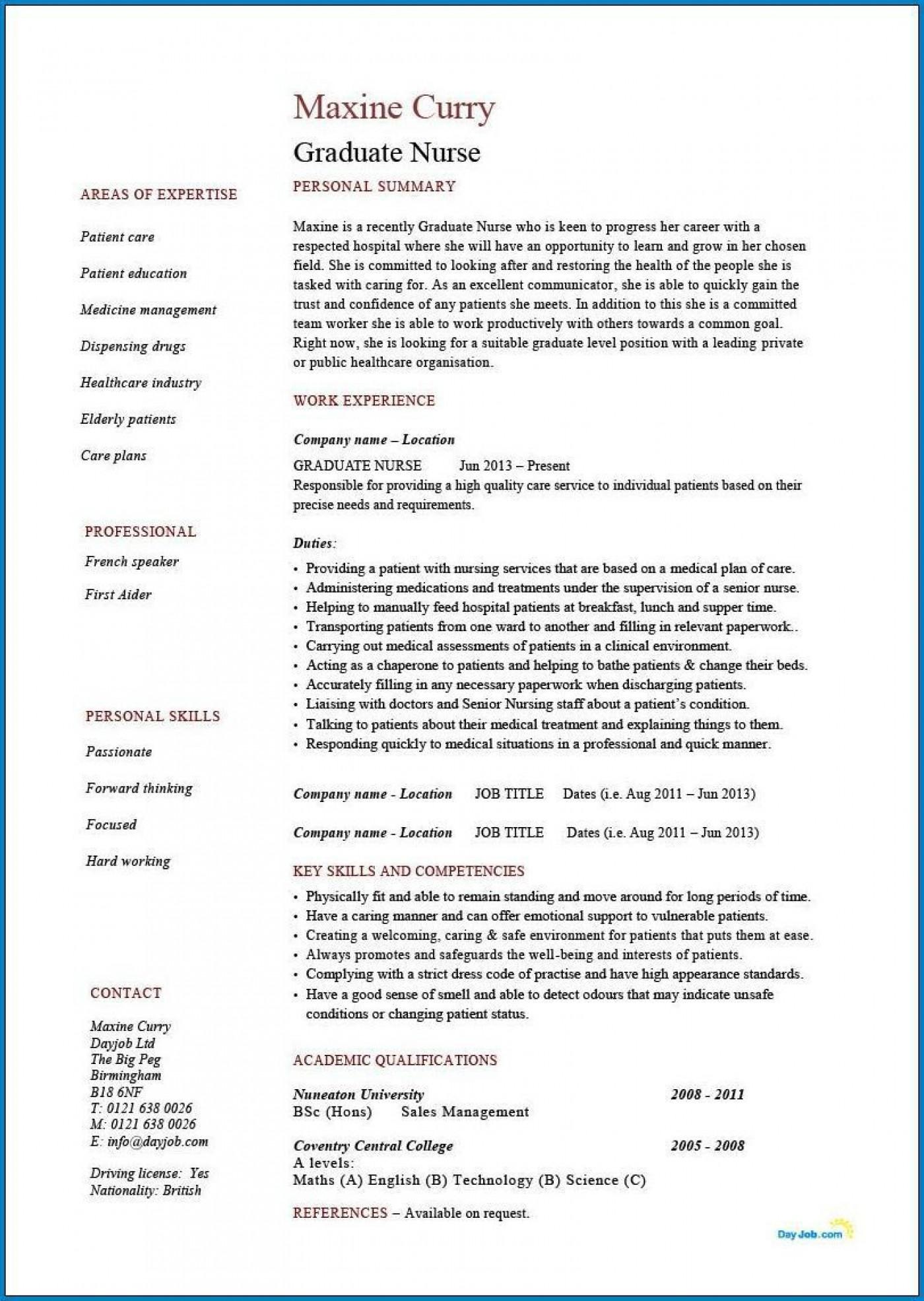 004 Phenomenal Rn Graduate Resume Template Inspiration  New Grad Nurse1400