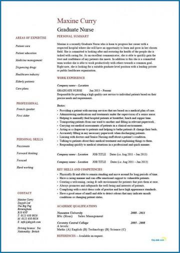 004 Phenomenal Rn Graduate Resume Template Inspiration  New Grad Nurse360