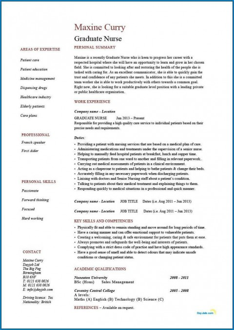 004 Phenomenal Rn Graduate Resume Template Inspiration  New Grad Nurse480