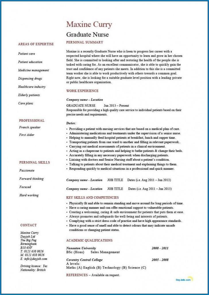 004 Phenomenal Rn Graduate Resume Template Inspiration  New Grad Nurse728