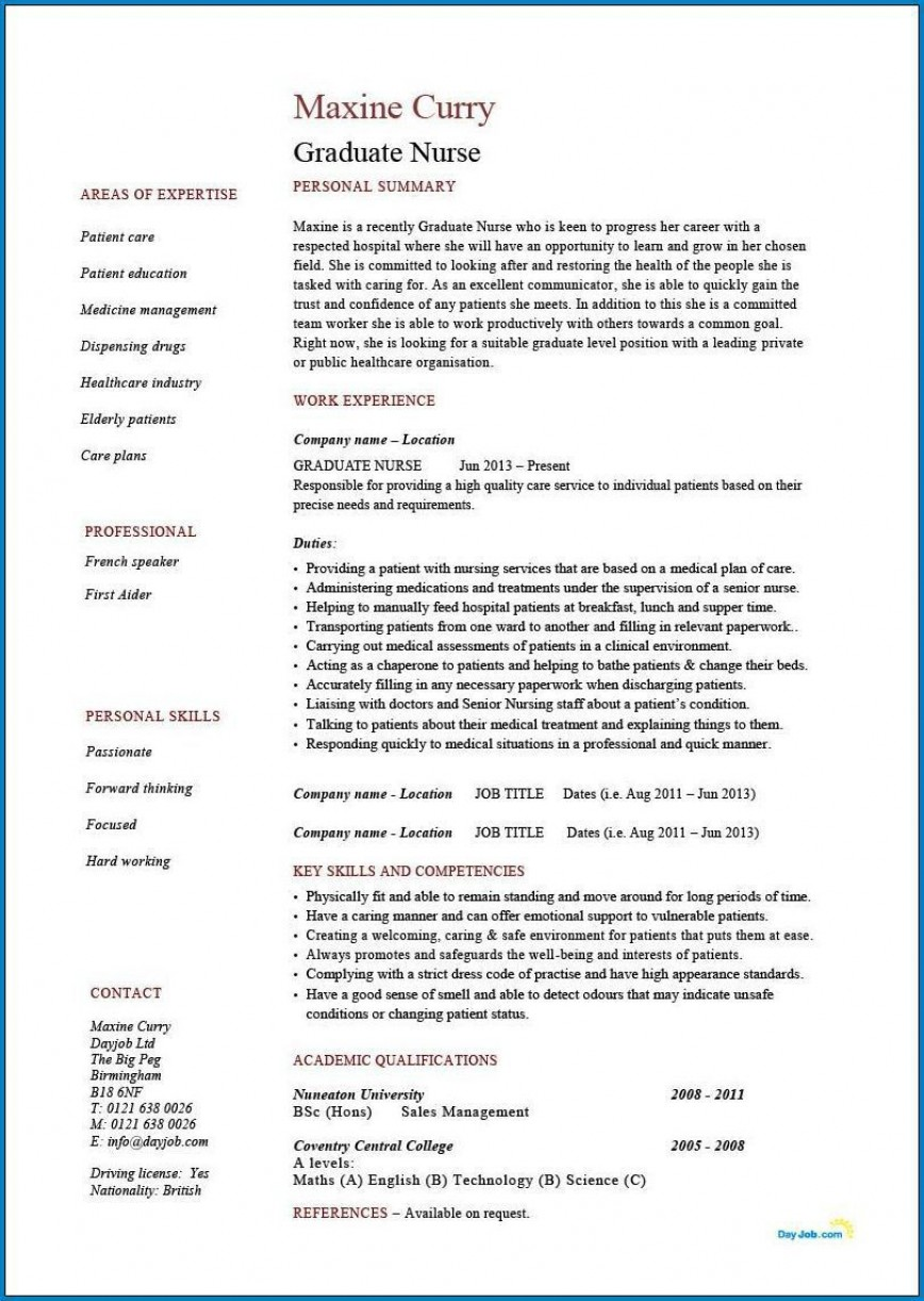 004 Phenomenal Rn Graduate Resume Template Inspiration  New Grad Nurse868