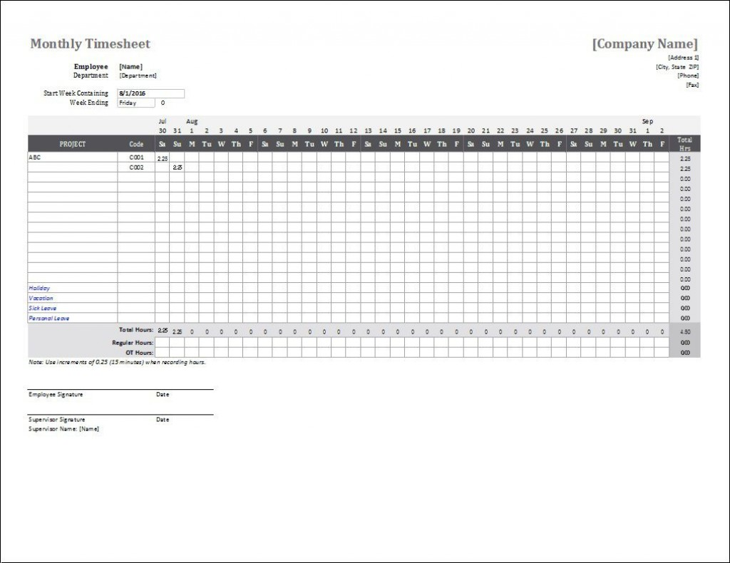 004 Phenomenal Time Card Template Free Picture  Calculator Excel Monthly Biweekly TimesheetLarge