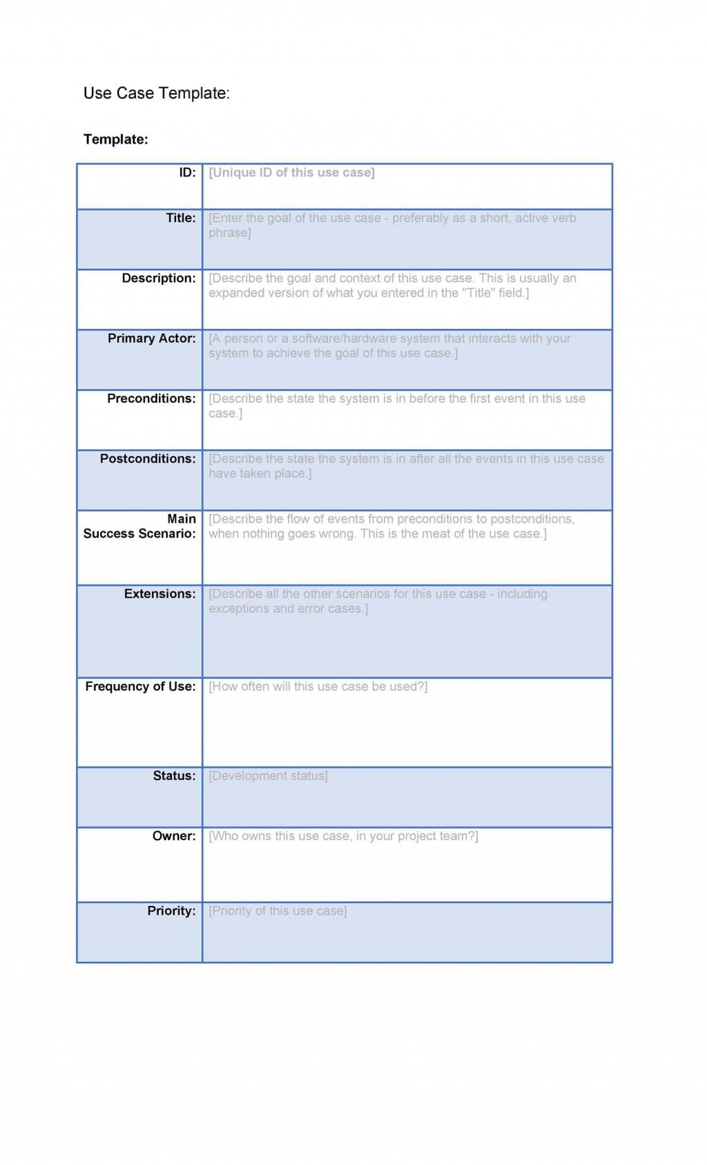 004 Phenomenal Use Case Diagram Template Free Example Large