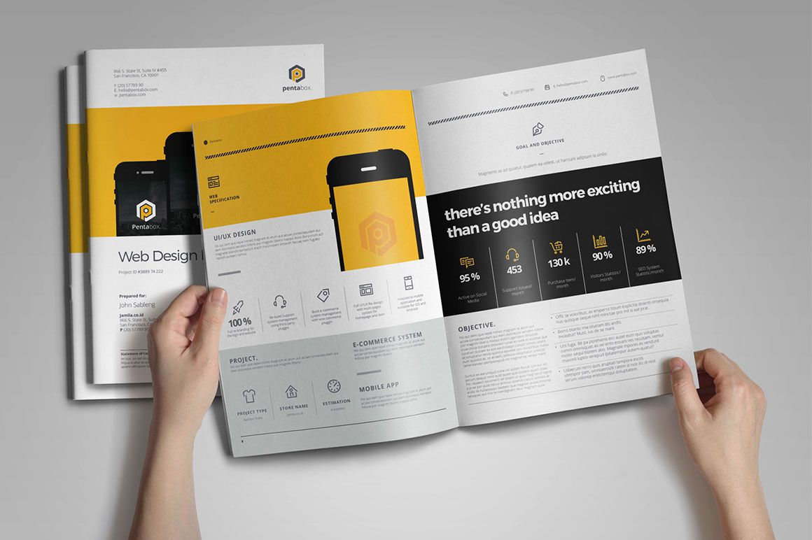 004 Phenomenal Web Design Proposal Template Indesign Idea Full