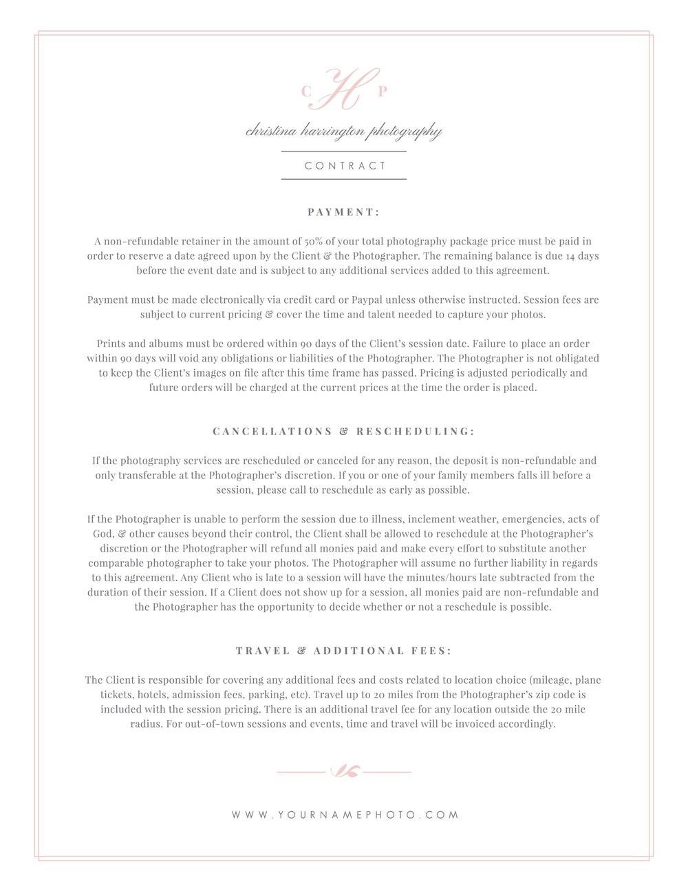 004 Phenomenal Wedding Photographer Contract Template Idea  Free Photography UkFull