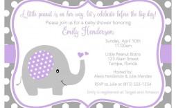 004 Rare Baby Shower Invitation Girl Purple High Def