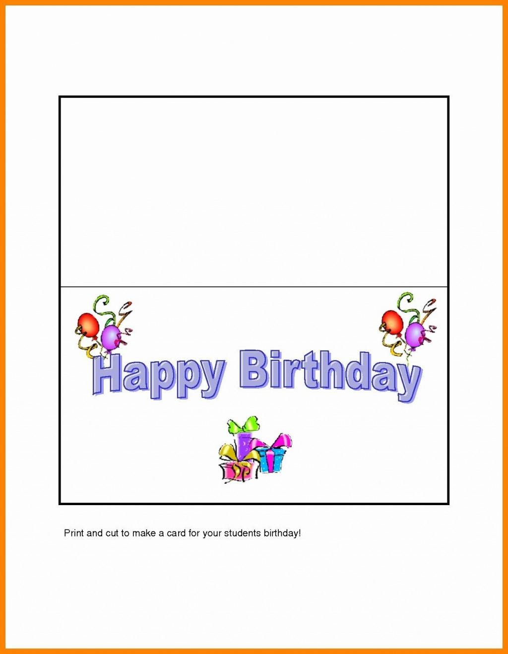 004 Rare Birthday Card Template Word Quarter Fold High Def Large