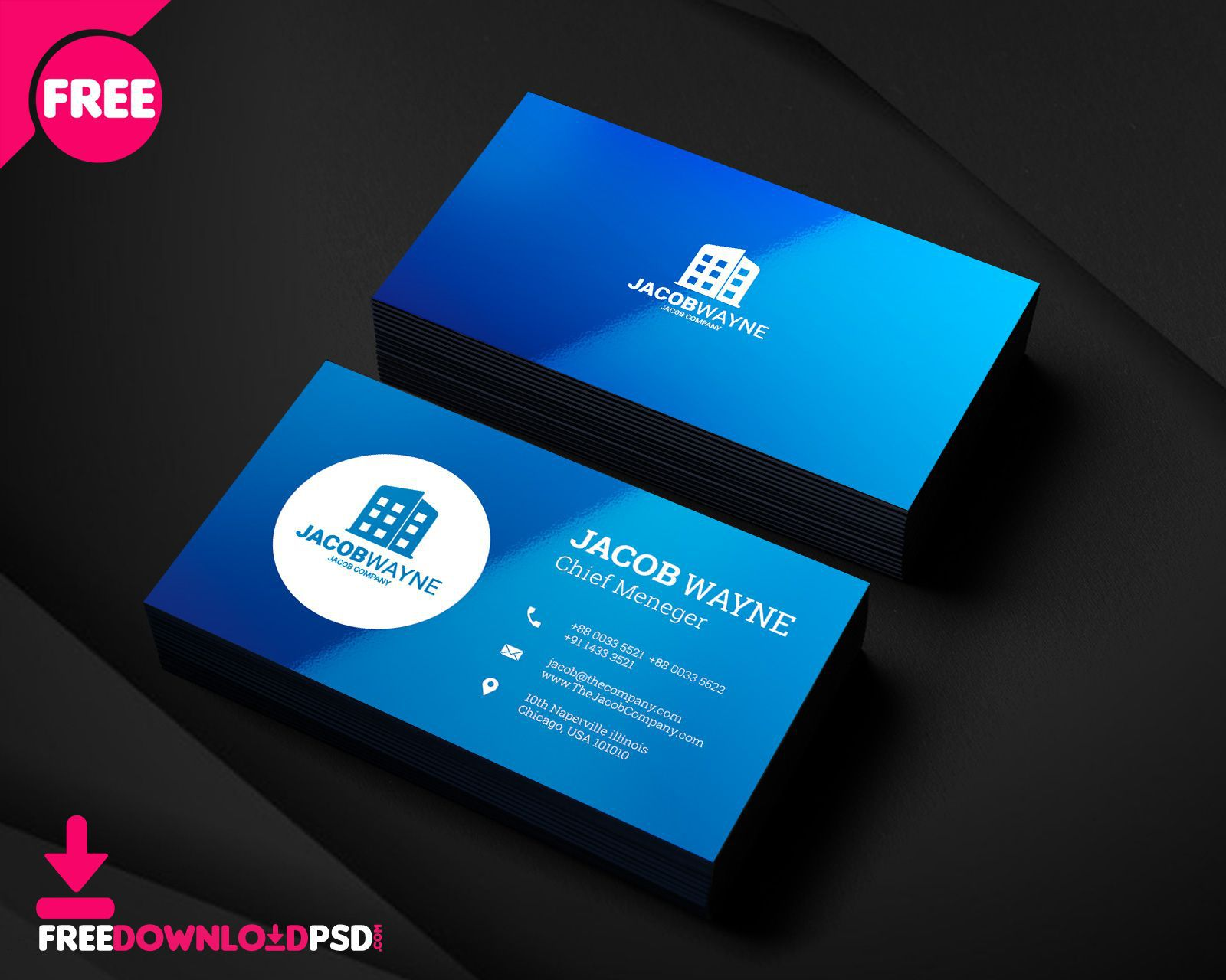 004 Rare Blank Busines Card Template Psd Free Inspiration  Photoshop DownloadFull