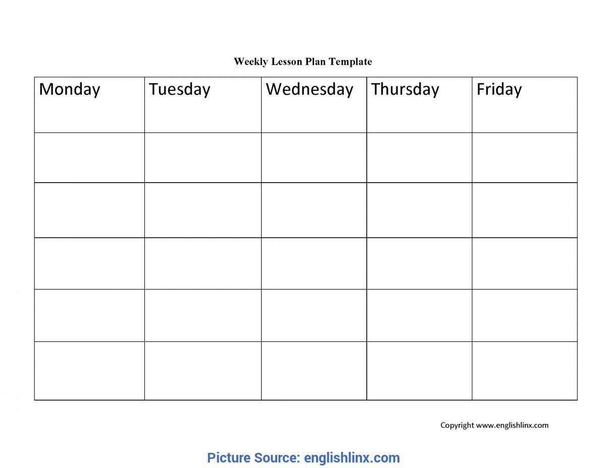 004 Rare Blank Weekly Lesson Plan Template High Def  Printable Pdf Free EditableFull