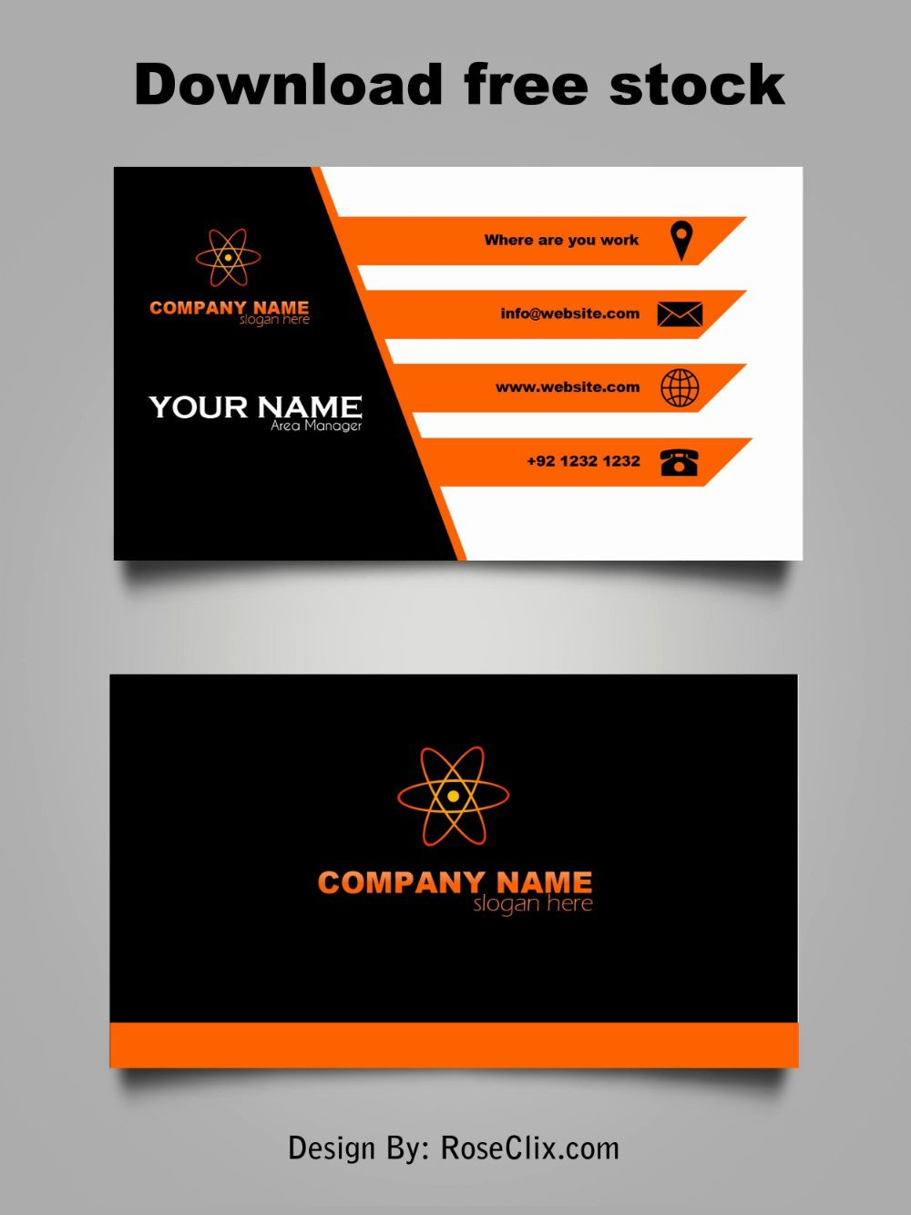 004 Rare Business Card Free Template