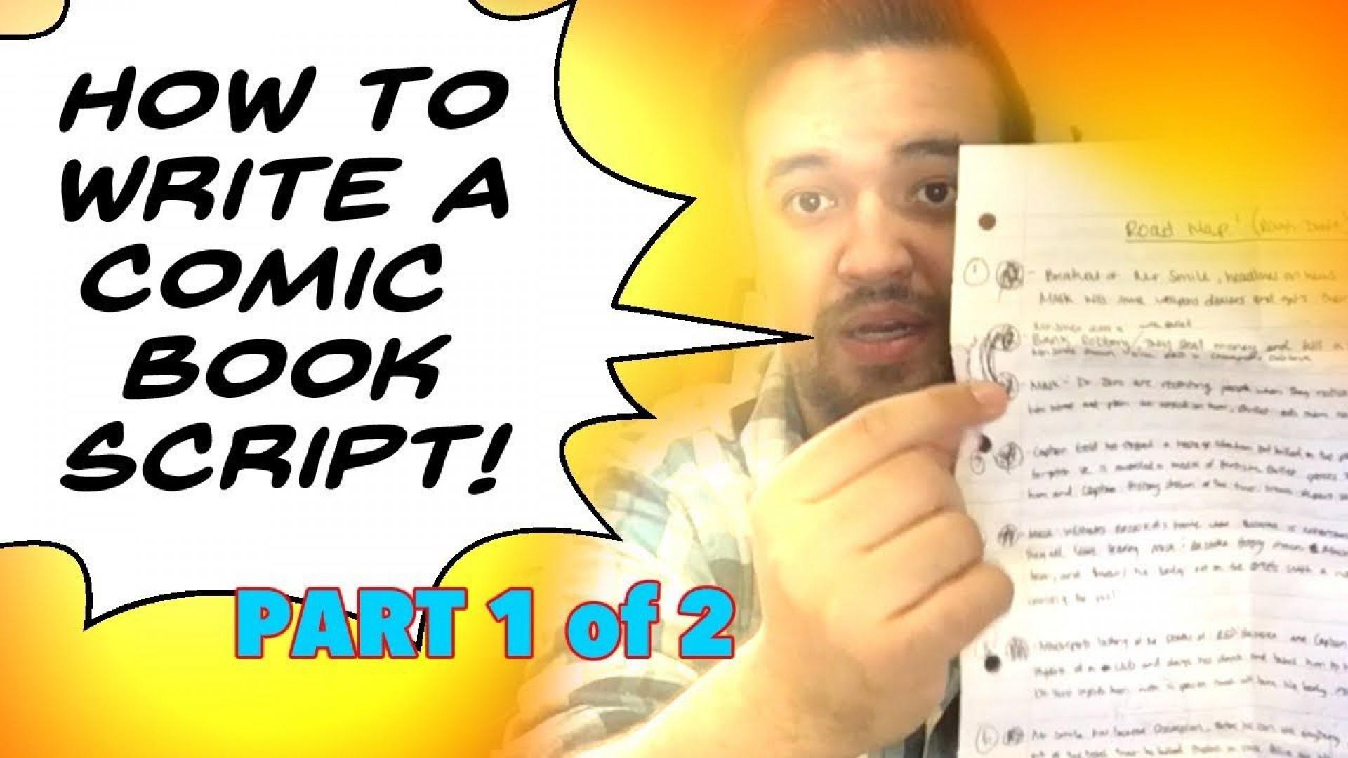 004 Rare Comic Book Script Writing Format Highest Clarity  Example1920