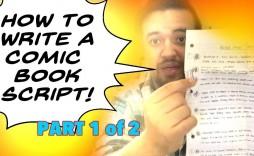 004 Rare Comic Book Script Writing Format Highest Clarity  Example