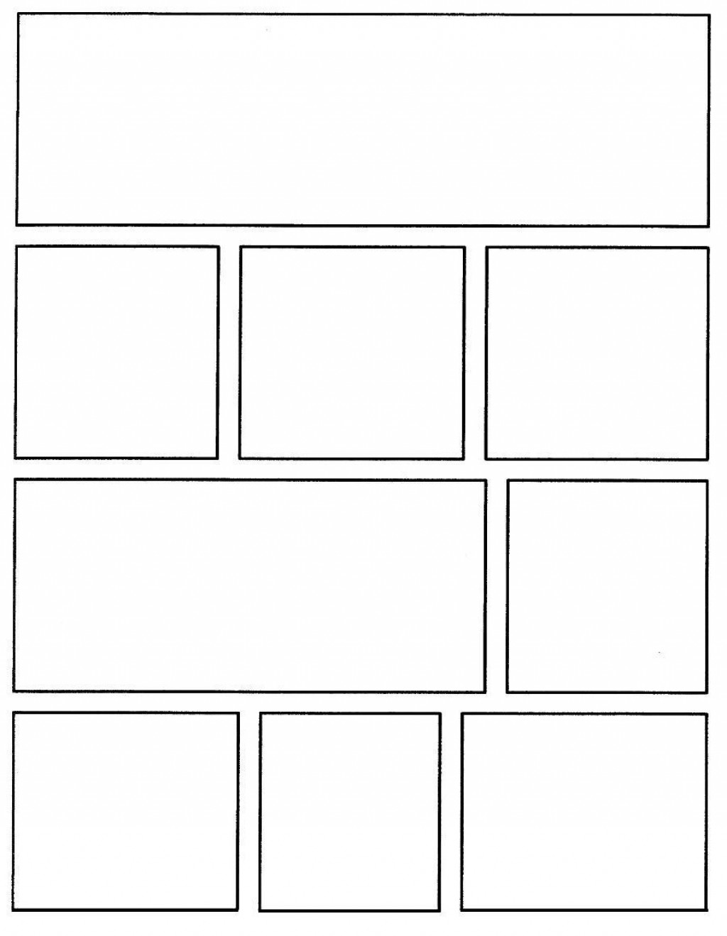 004 Rare Comic Strip Layout For Word High Resolution  Book Script Template Microsoft DocLarge