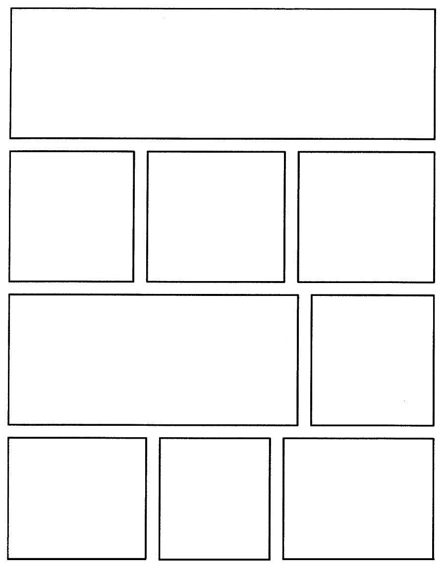 004 Rare Comic Strip Layout For Word High Resolution  Book Script Template Microsoft DocFull