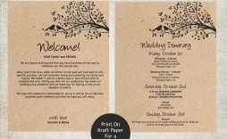 004 Rare Destination Wedding Welcome Letter Template Concept  And Itinerary