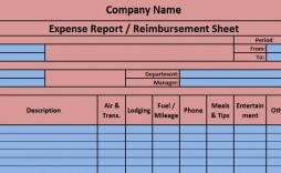 004 Rare Expense Report Template Excel Photo  Free Format 2010