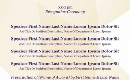 004 Rare Free Event Program Template Picture  Schedule Psd Word